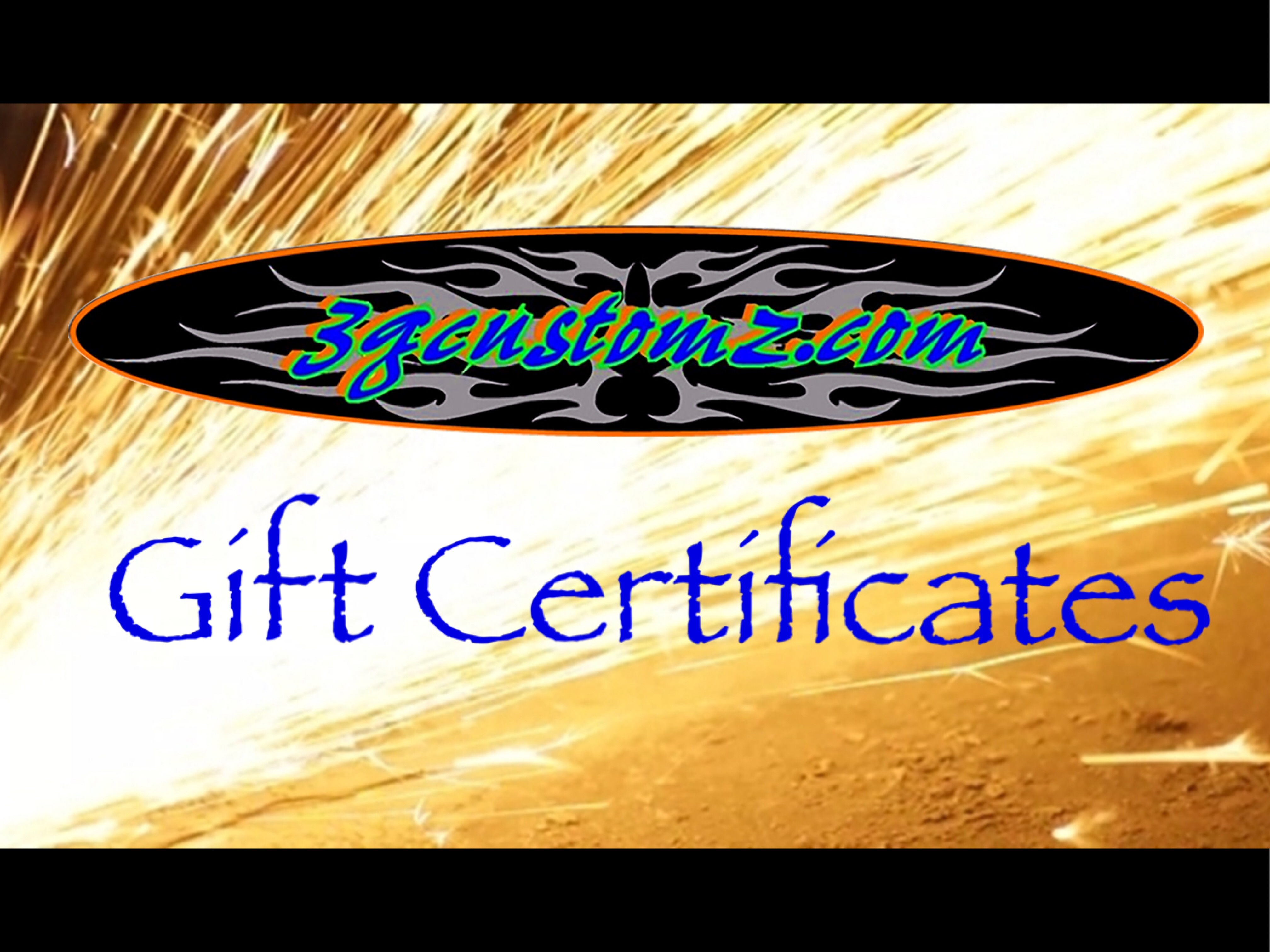 3g-Gift Certificate