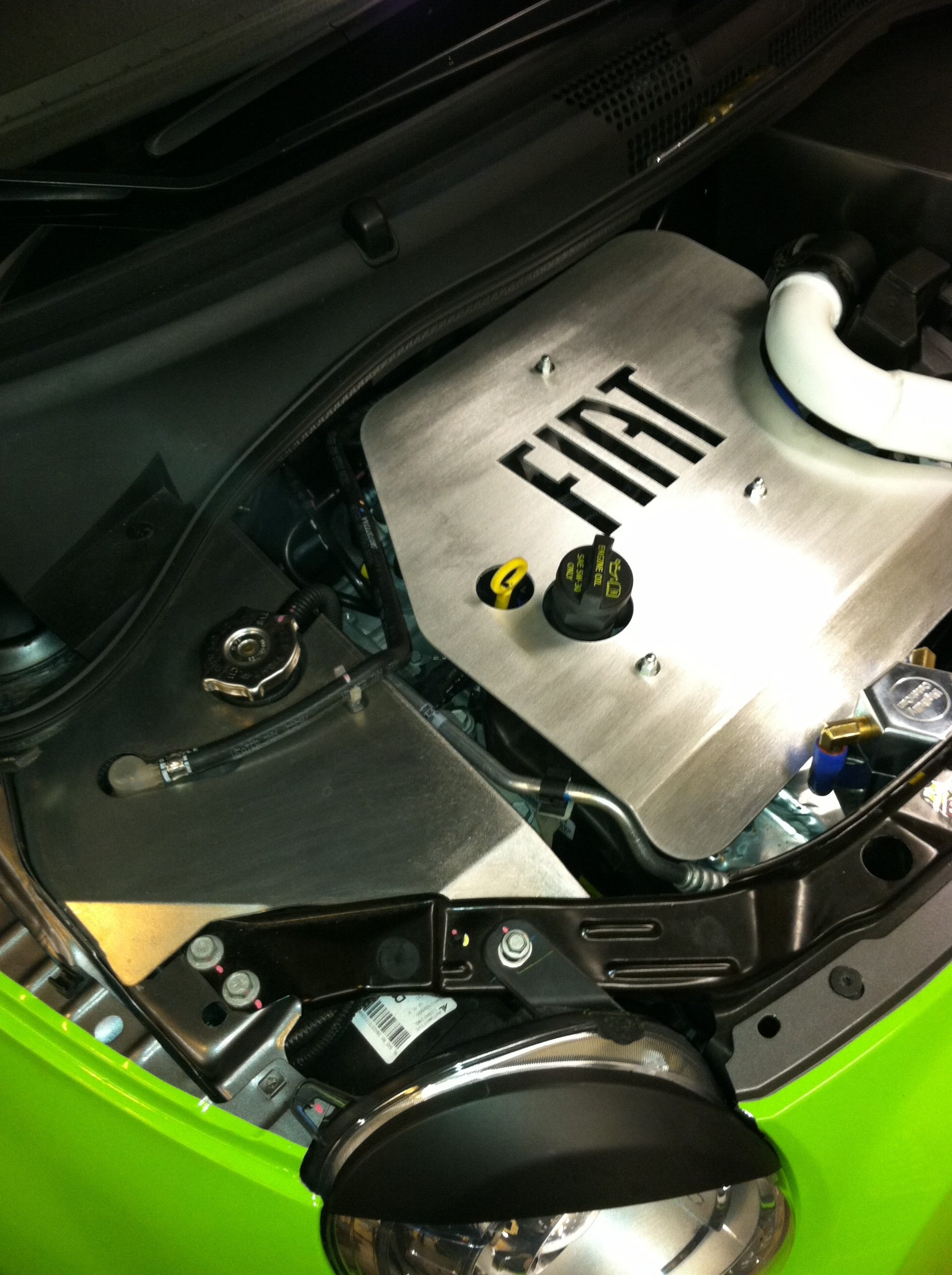 Fiat 500 Left Side Coolant Cover
